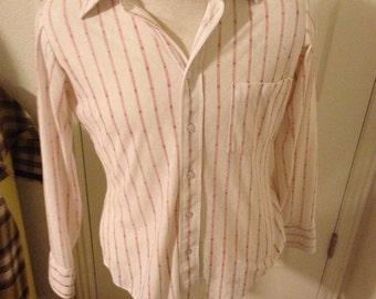 Men's Medium long sleeved collared dress shirt