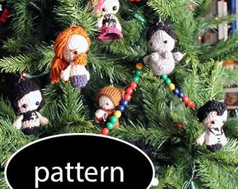 Pattern for Sandman The Endless Amigurumi Ornaments