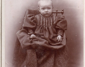 Antique Photo of Grumpy Baby
