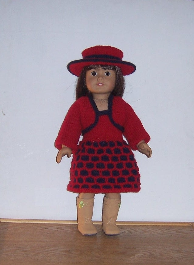 PDF dolls clothes 18 inch knitting pattern for American Girl