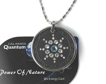 QP7 Dalimara Pendant Swarovs Crystal 5000 Ionic Scalar Energy Birthstone Aquamarine March