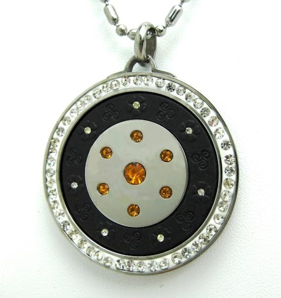 qp12 quantum pendant w crystals volcanic lava and neo