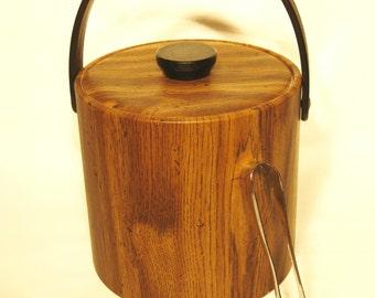 70's faux woodgrained icebucket