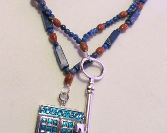 Doctor Who Tardis and Companion Key Necklace