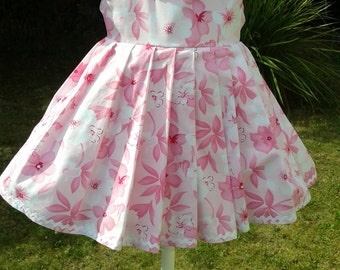 Pretty in Pink - Floral Printed Cotton Baby Dress. [ Only 1 left in size 3 - 6 mths }