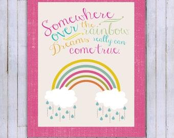 Rainbow print- Instant download- 11x14