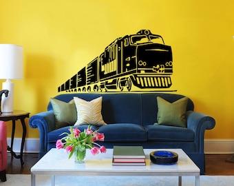 Train wall decal | Etsy
