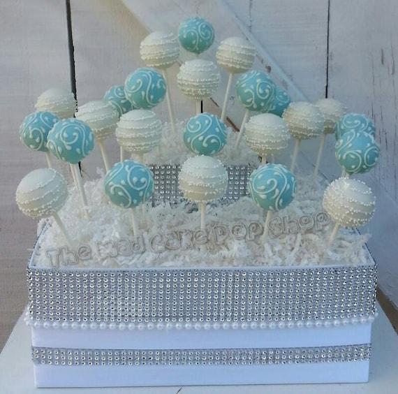 tiffany blue wedding cake pops