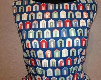 Beach hut 50's inspired summer dress Size 16