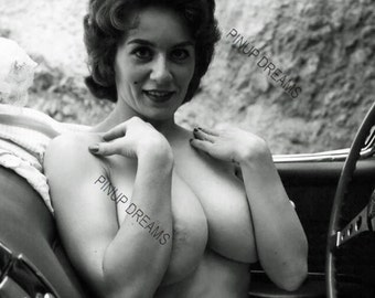 Beautiful Set of 5 Black and White Vintage Photograph re-prints of Sabine Demois in various sizes