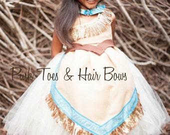 Pocahontas Dress- Pocahontas costume- Pocahontas tutu dress