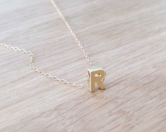 gold necklace,personalized necklace,gold initial charm,gold filled necklace,name necklace,personalized initial necklace,jewelry 505
