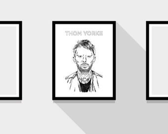 Thom Yorke Portrait Radiohead Print