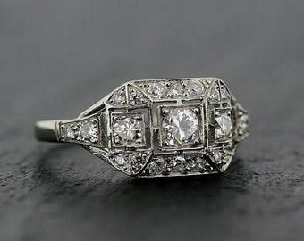 Bague en diamant vintage