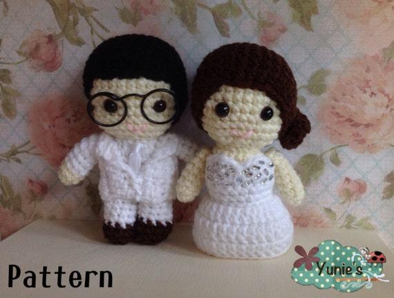 Free Amigurumi Wedding Couple Pattern : Wedding doll crochet pattern amigurumi couple