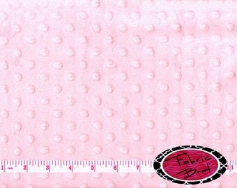 PINK MINKY DIMPLE Dot Fabric by the Yard Half Yard or Fat Quarter / Fat Half Pale Pink Cuddle Minky Fabric Soft Cuddle Plush Fabric Pl-Pp