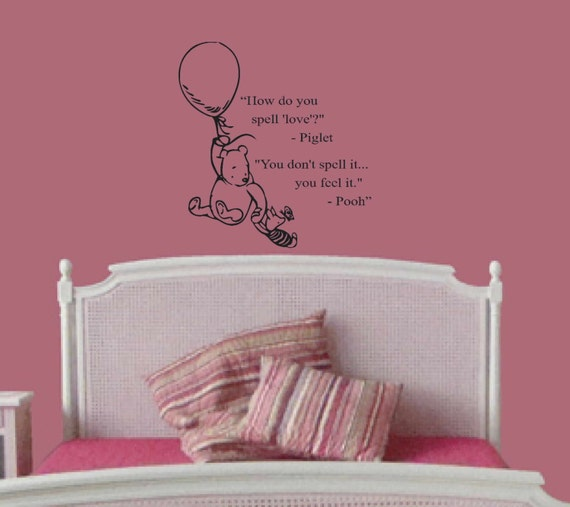 Classic winnie the pooh and piglet disney wall by for Classic pooh wall mural