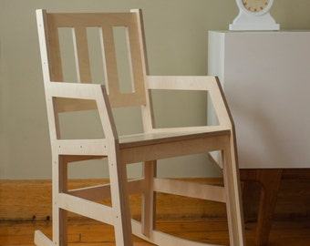 Modern Rocking Chair - Baltic Birch Plywood Rocker