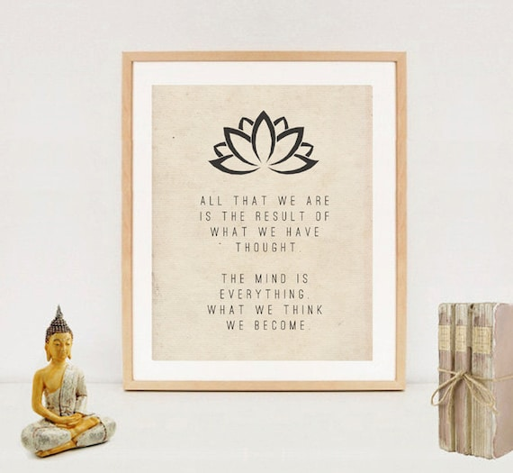Meaning Of Wall Decor : Spiritual typography wall art print buddha quotes digital