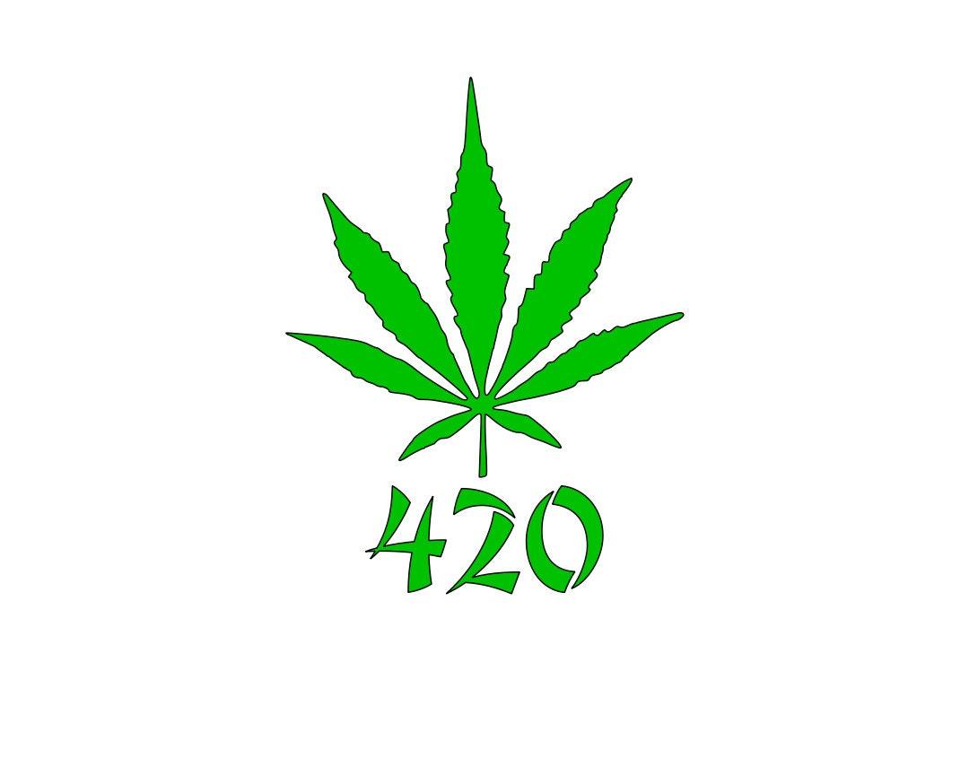 420 Marijuana Cannabis Stickers Set of 2 Vinyl Graphic Art