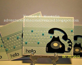 Set Of 4 Hello Cards.... Telephone...
