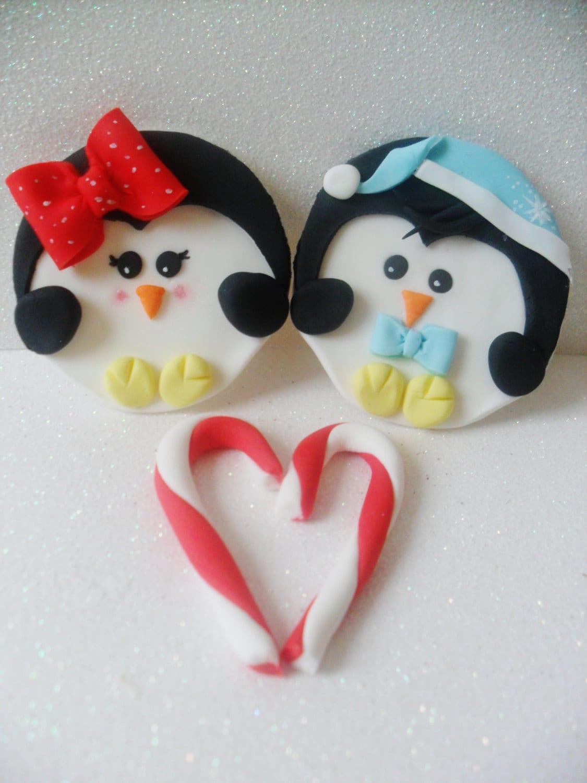 Fondant Penguin Cupcake Toppers