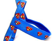 Norway harness with Superman for a dog. For dog, IG sighthounds, chihuahua, pugs, bulldogs, Italian greyhound, maltipoo, poodle, whippet