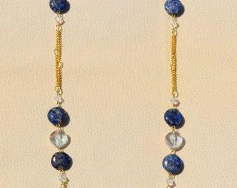 EVELYN Necklace in Denim Lapis