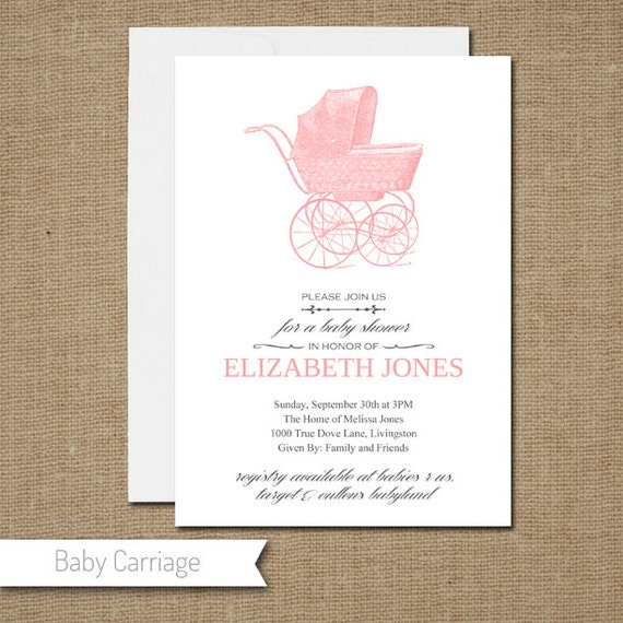 Items similar to Custom Self Print Baby Shower Invitations ...