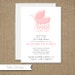 Custom Self Print Baby Shower Invitations: Carriage, Pink, Girl