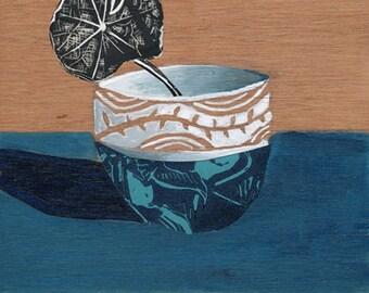 Nasturium Modern Kitchen Art Print