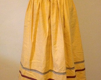 Yellow 1950s Full Skirt