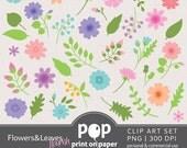 Floral Clip Art Flowers & Leaves Clip Art Flourish cliparts, wedding clip art, love and marriage clip art, flower clip art, nature clip art