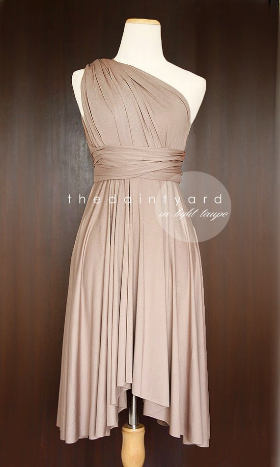 Light Taupe Color Light Taupe Bridesmaid Dress