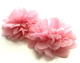 2 Large Lotus Petal Flowers--Pearl Pink