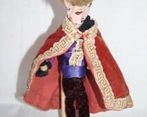 Vintage Handmade  Doll/Model Made From Pipe Cleaners / MEMsArtShop.