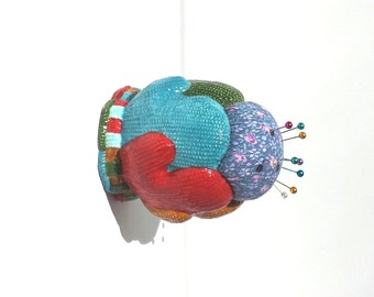 Warm Mittens Handmade Christmas Holiday Pincushion - by FairyLace Designs