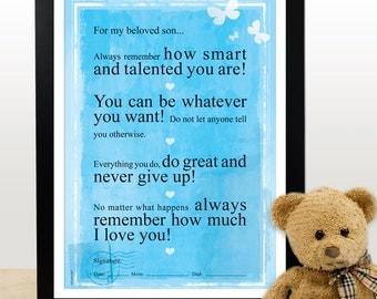 A3. For my beloved daughter. Motivational poster. Inspiring