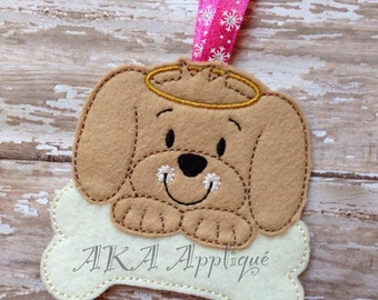 Gus Puppy Dog Ornament ITH Embroidery File