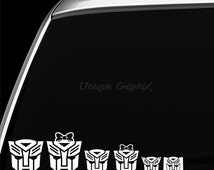 Autobot Family vinyl decal window sticker