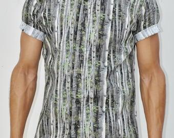 Birch Please Short Sleeve Button-Up Shirt