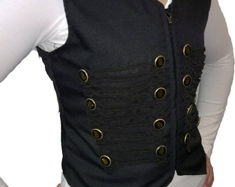Ladies Steampunk Vest with frogging