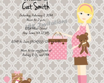 Modern Mom Baby Shower Invitation (Girl or boy)