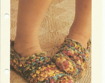 Rag slippers easy crochet pattern digital download
