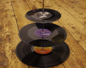 3 tier LP Record cake stand.