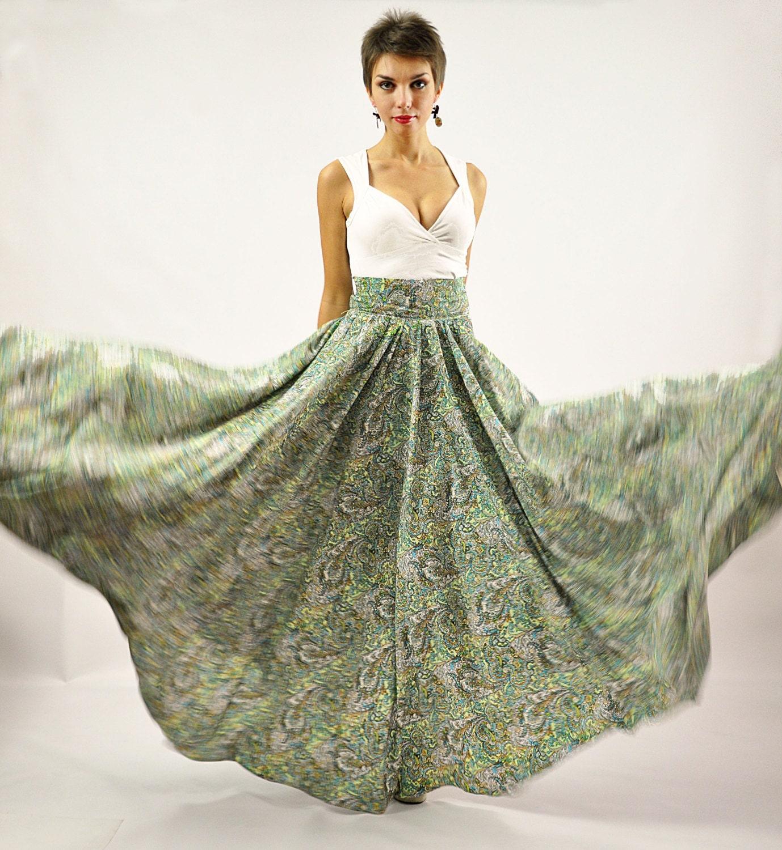 Custom Listing for Frieda Maxi Skirt Long Skirt Floral