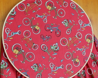 Red Crib Sheet - Bicycle Crib Sheet - Red Baby Bedding - Bike Crib Sheet - Fitted Crib Sheet - Bicycle Baby Bedding - Red Bicycle Baby