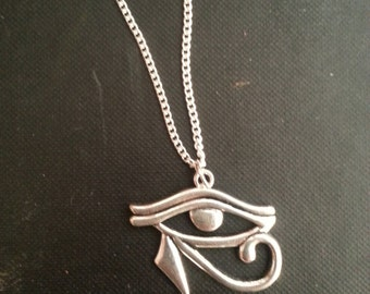 Egyptian Eye of Horus Design Charm Necklace