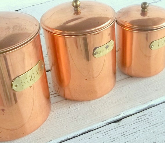 vintage metal kitchen canisters vintage kitchen canister daewoo set of 3 decoware nesting 22596