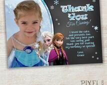 Frozen Thank You Card, Frozen Birthday Party, Frozen Invitation, Frozen Birthday Invitation, Thank you, Disney Invitation, Elsa, Chalkboard